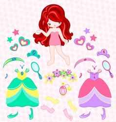 princess dress up vector image vector image