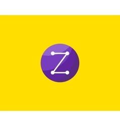 Abstract letter Z logo design template Dot line vector image
