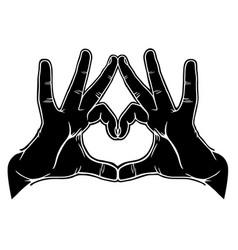 hands symbolic love vector image vector image