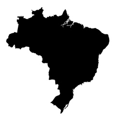 Map of brazil High detailed silhouette map vector image vector image