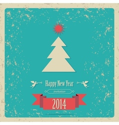 New year card 2014 vector image