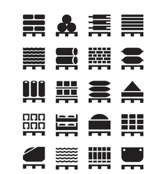 Pallets with construction materials vector image