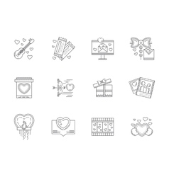Set of love events line icons vector image vector image