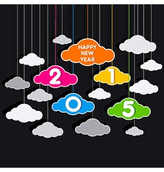 colorful new year 2015 greeting design vector image