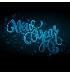 New Year made a sparkler vector image vector image