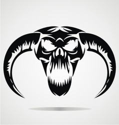 Scary Demon Skulls vector image vector image