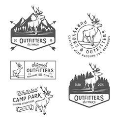 Set of vintage outdoors labels and design elements vector image vector image
