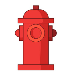 Fire water column icon cartoon style vector