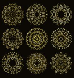 gold sparkling mandala vector image