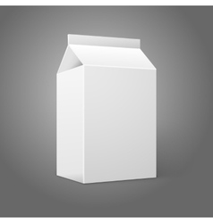 Realistic small white blank paper package for milk vector image