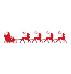 Santa Claus sleigh Christmas element isolated on vector image vector image