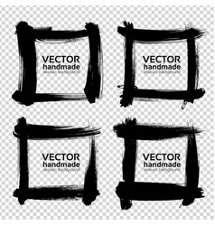 square frames from thick black smears isolated on vector image vector image
