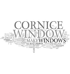 window cornice text word cloud concept vector image vector image