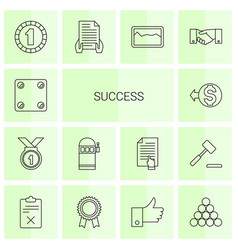 14 success icons vector