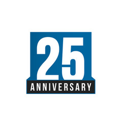 25th anniversary icon birthday logo vector image
