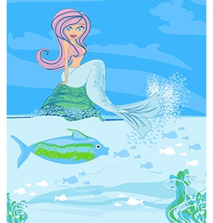 a Beautiful mermaid vector image