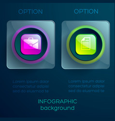 Abstract infographic concept vector