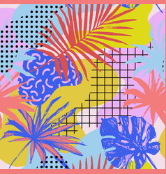 abstract poster in memphis style geometric vector image