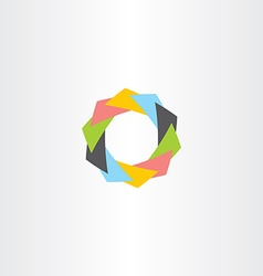 abstract tech business symbol icon sign vector image