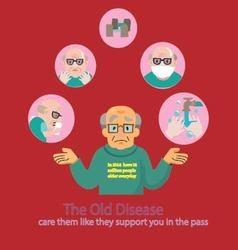 Aging society vector