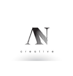 an logo design with multiple lines and black vector image