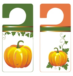 Banners with Pumpkin vector image