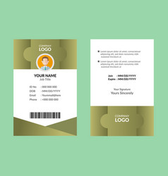 Best id card 7 vector