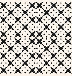 black and white geometric mosaic seamless pattern vector image