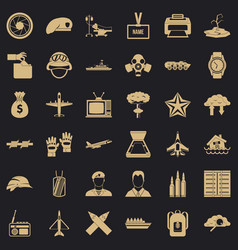 Brigade icons set simple style vector