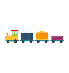 Bright toy train vector
