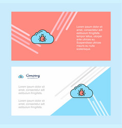 Bug on cloud abstract corporate business banner vector