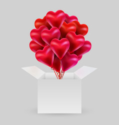 Bundle balloons in shape a heart with an vector