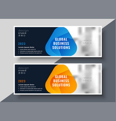 business banners presentation set in modern style vector image