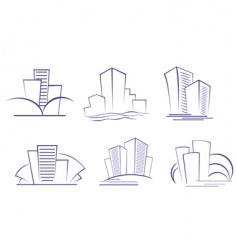 business buildings designs vector image