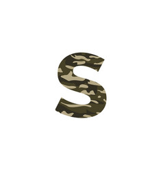 camouflage logo letter s vector image