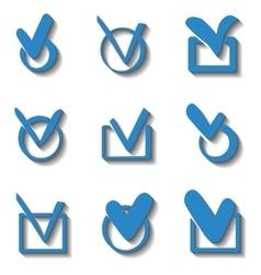 Check box vector image