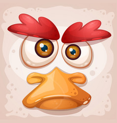 Chicken a duck an insane bird is a funny vector