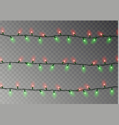 Christmas lights string isolated realistic garlan vector