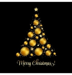 Christmas tree greeting vector