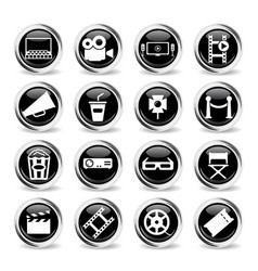 cinema simply icons vector image