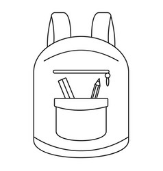 College backpack icon outline style vector
