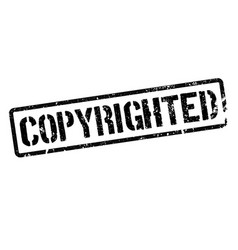 Copyrighted stamp on white vector