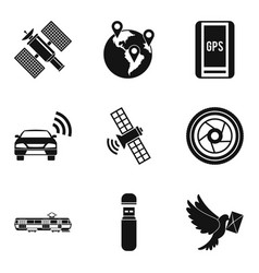 Cordless icons set simple style vector