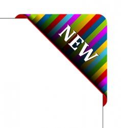 Corner business ribbon vector