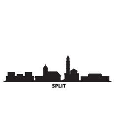 Croatia split city skyline isolated vector