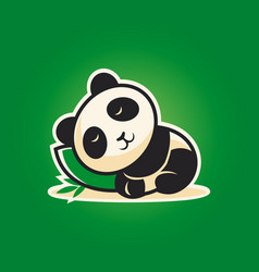 cute panda character sleeping on a pillow vector image