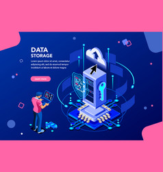 data services concept isometric vector image