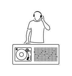 dj icon vector image