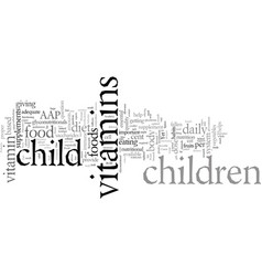 Does your child need children s vitamins vector