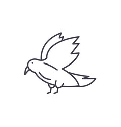 dove line icon concept dove linear vector image
